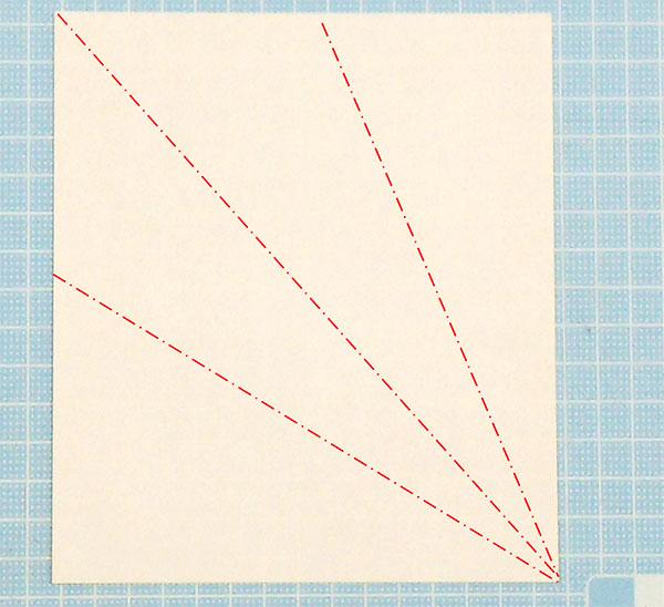 折り紙1枚の全身猫の折り方の手順1