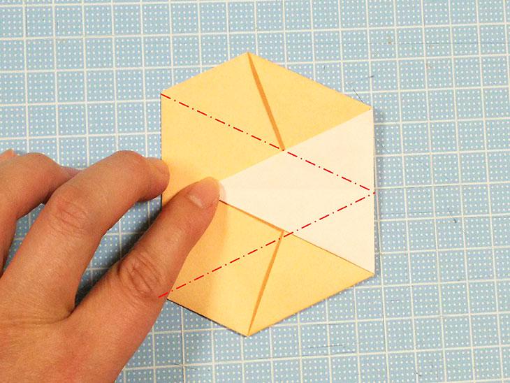 折り紙1枚の全身猫の折り方の手順4