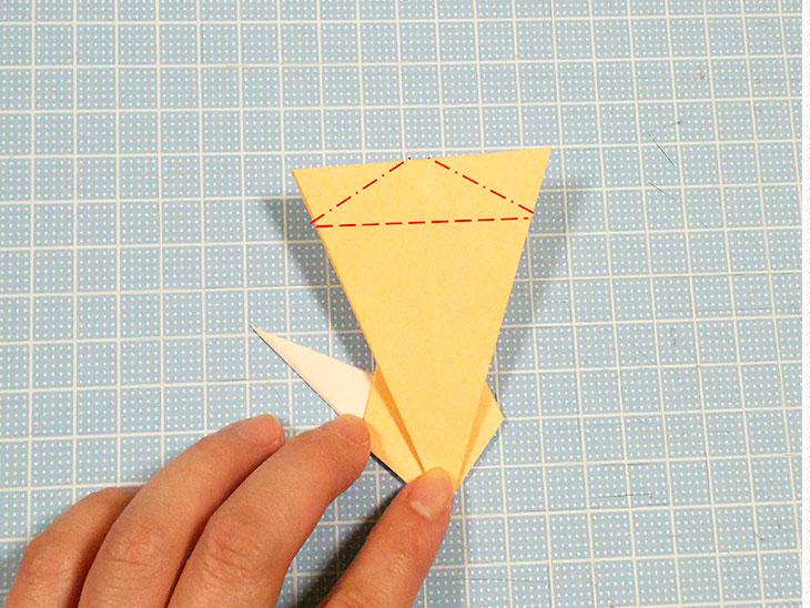 折り紙1枚の全身猫の折り方の手順5