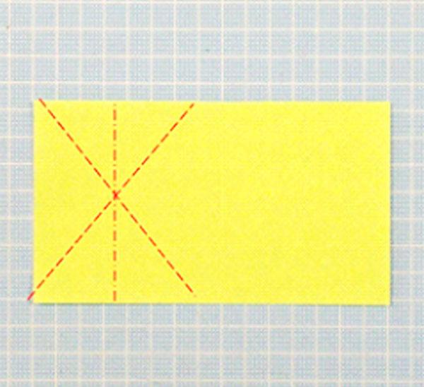 折り紙の立体猫の折り方の手順1