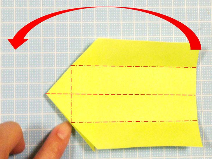 折り紙の立体猫の折り方の手順2