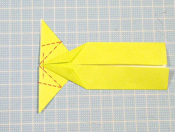 折り紙の立体猫の折り方の手順4