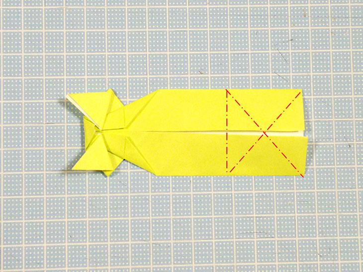 折り紙の立体猫の折り方の手順6