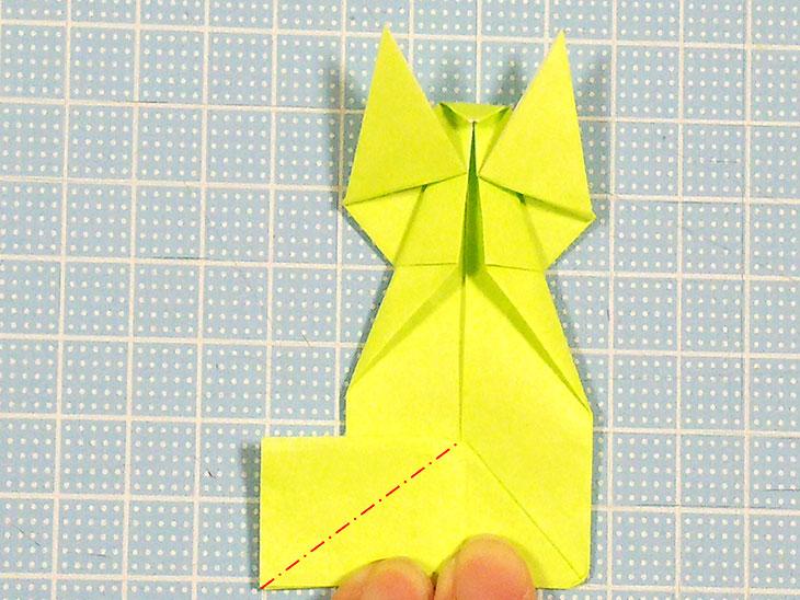 折り紙の立体猫の折り方の手順7