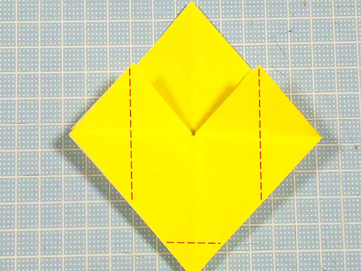 折り紙の三角猫しおりの折り方の手順3