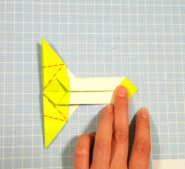 差し込むタイプの折り紙の猫しおりの折り方の手順5