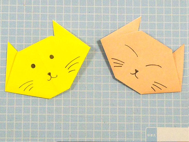 完成した一番簡単な猫の顔