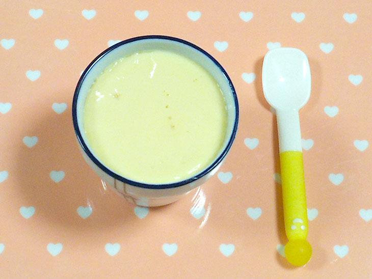 離乳食中期におすすめの卵レシピ「ミルクプリン」の完成品