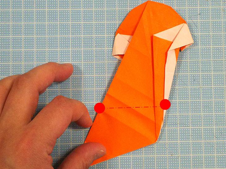 折り紙一枚で作るおすまし犬の折り方の工程6