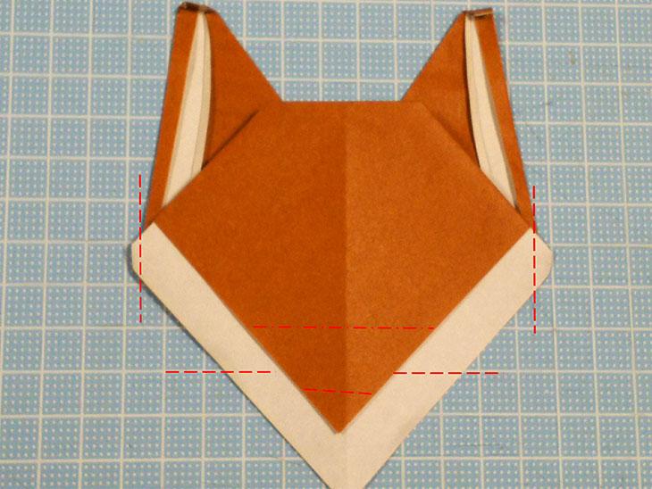 折り紙一枚で作るリアルな柴犬の折り方の工程4