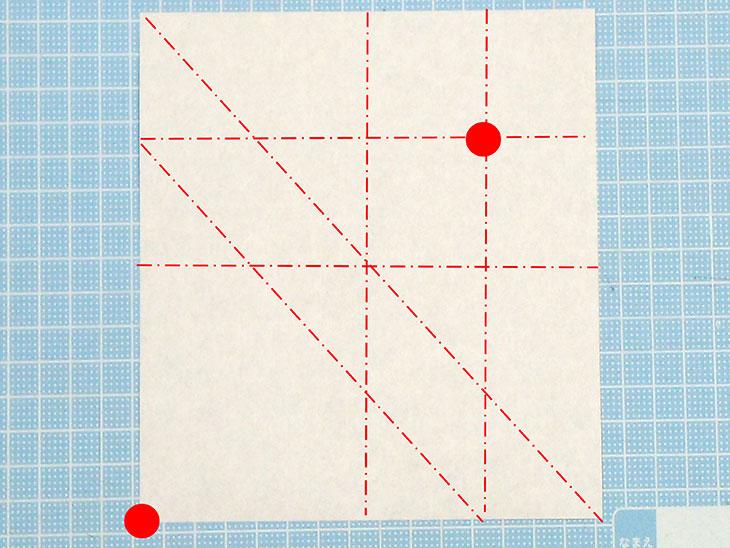 折り紙一枚で作る全身犬の立体ドーベルマンの折り方の工程1