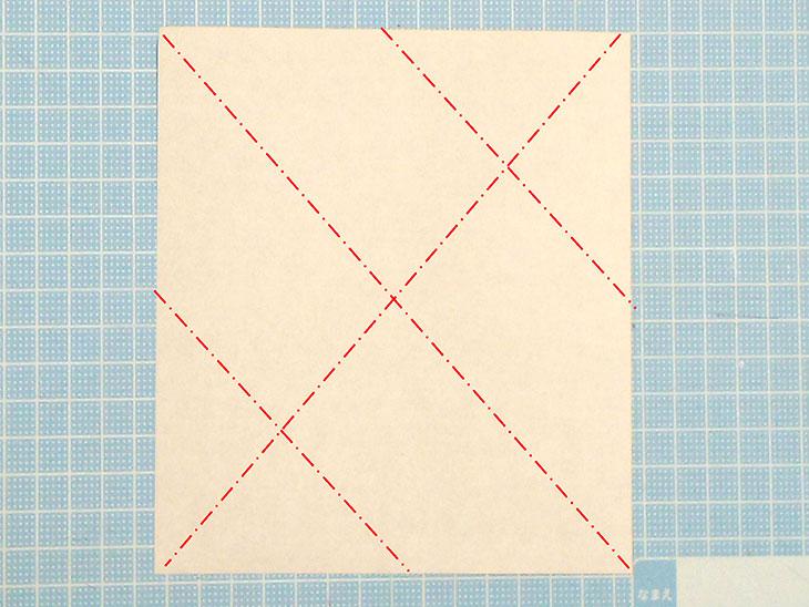 折り紙一枚で作る動くダックスフンドの折り方の工程1