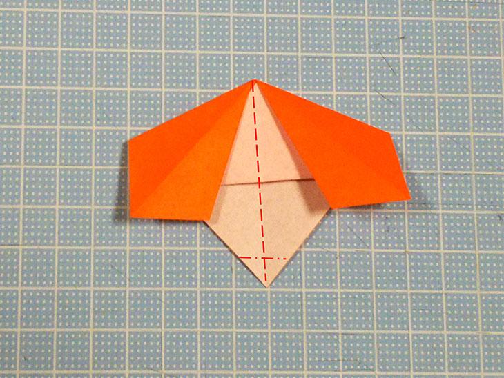 折り紙の犬コッカースパニエルの折り方の工程2
