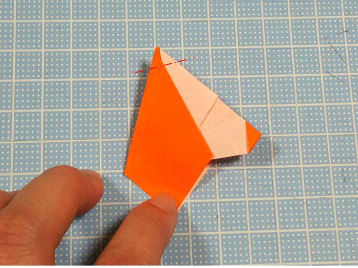 折り紙の犬コッカースパニエルの折り方の工程3