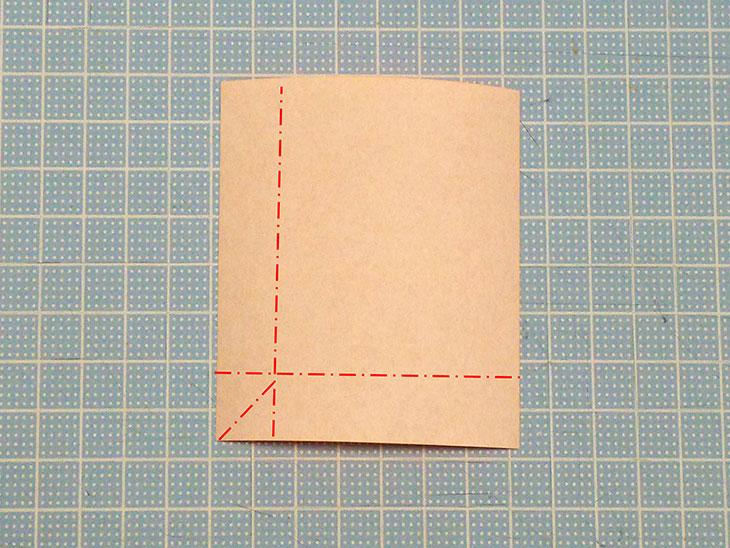 折り紙の犬コッカースパニエルの折り方の工程4