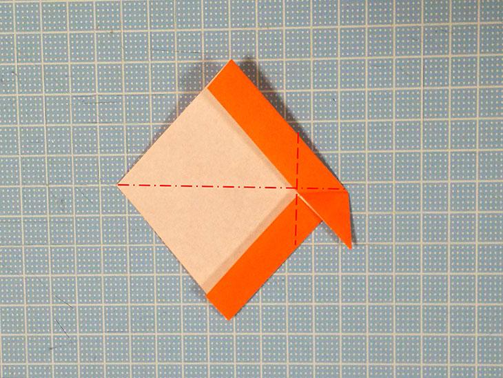 折り紙の犬コッカースパニエルの折り方の工程5