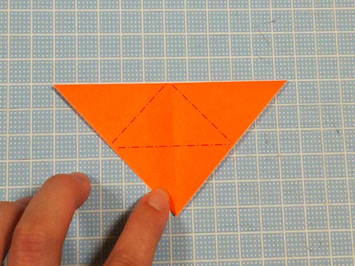 折り紙の犬コッカースパニエルの折り方の工程1
