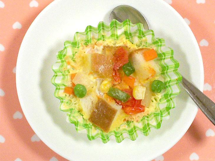 離乳食レシピ「豆乳キッシュ」の完成品