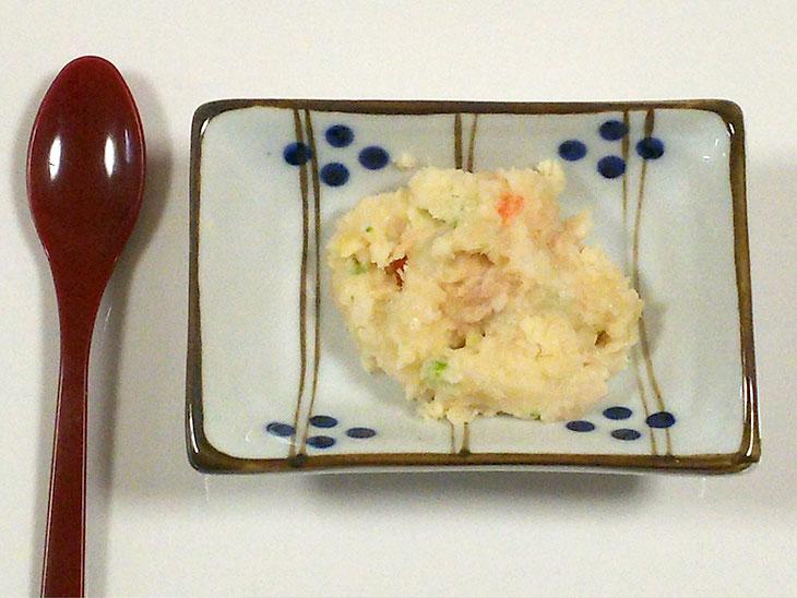 離乳食中期の豆乳おすすめレシピ「豆乳を使ったツナのマッシュポテト」の完成品