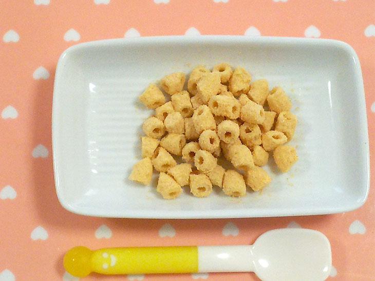 離乳食完了期レシピ「マカロニきなこ」の完成品