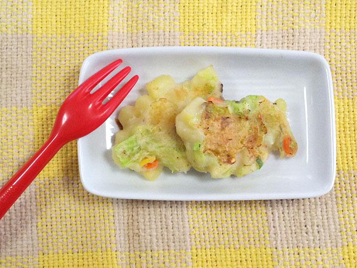 離乳食完了期レシピ「エリンギ入りお好み焼き」の完成品