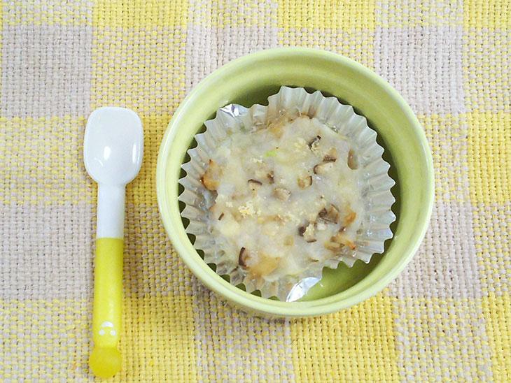 離乳食完了期レシピ「エリンギとささみのドリア」の完成品