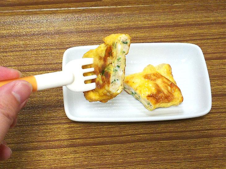離乳食完了期レシピ「青のり入りだし巻き」の完成品