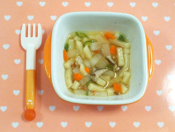 離乳食完了期レシピ「エリンギの煮込みうどん」の完成品
