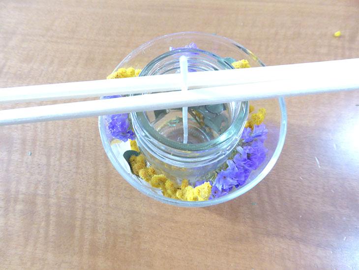 ボタニカルジェルキャンドルの作り方の工程6