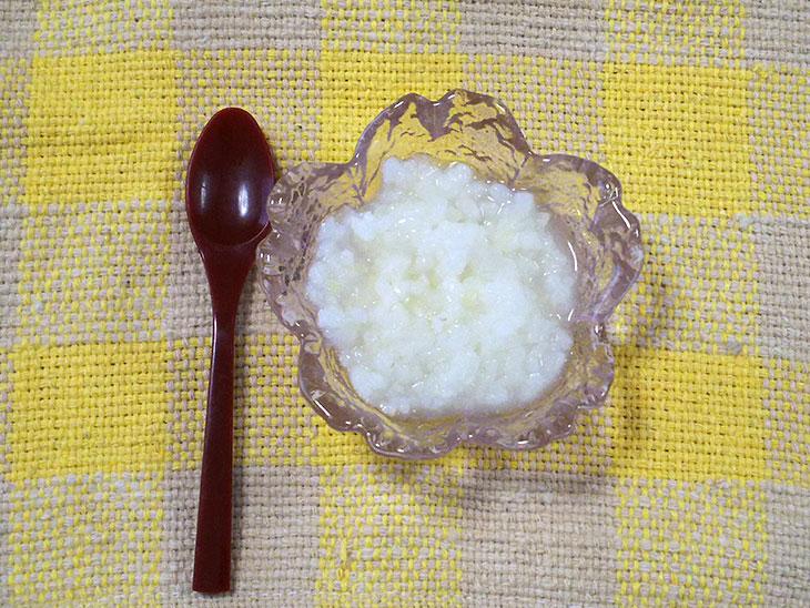 離乳食後期レシピ「白菜と大根のお粥」の完成品