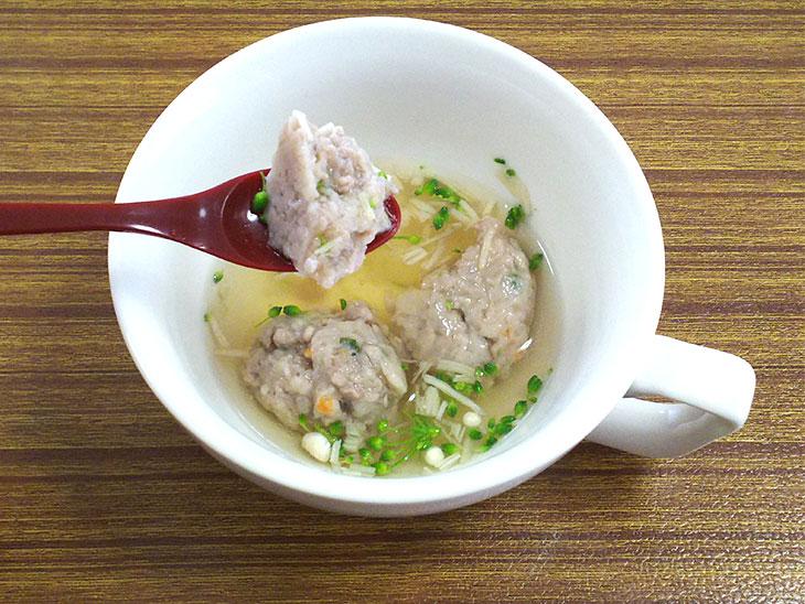離乳食後期レシピ「レンコン団子のスープ煮」の完成品