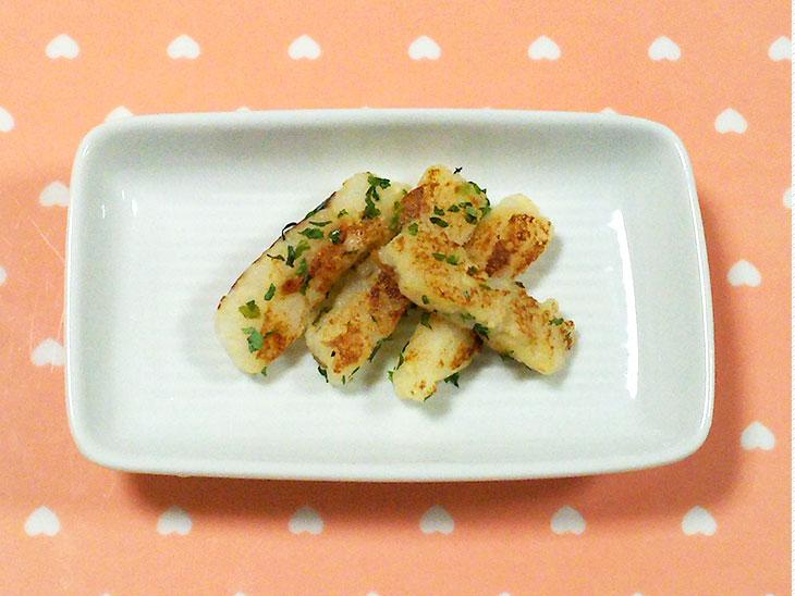離乳食完了期のおすすめレシピ「お子様ポテトスティック」の完成品