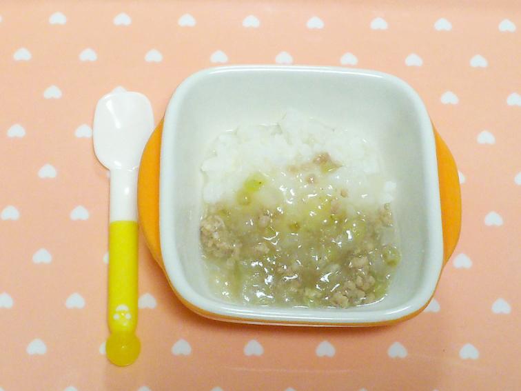 離乳食完了期のおすすめナスレシピ「ナスと大根のあんかけ丼」の完成品