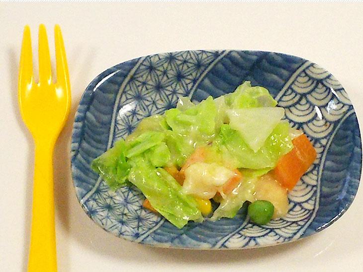 離乳食完了期のおすすめチーズレシピ「チーズIN野菜ソテー」の完成品