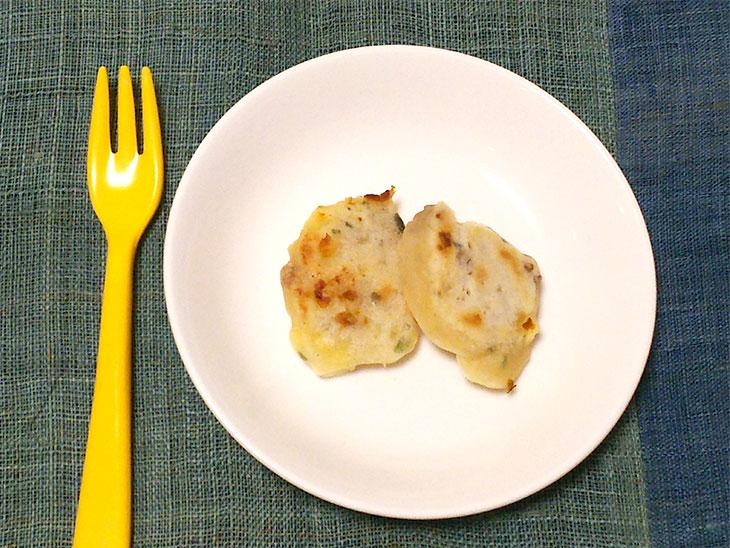 離乳食完了期のおやきのおすすめレシピ「鉄分&カルシウム補給に!レバーおやき」の完成品