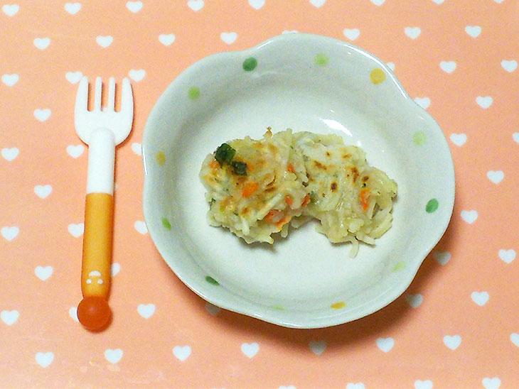 離乳食完了期のおやきのおすすめレシピ「野菜たっぷりそうめんおやき」の完成品