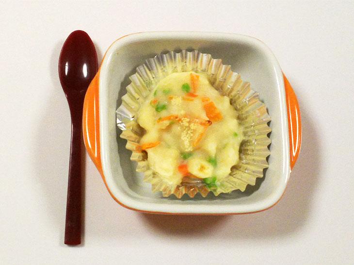 離乳食完了期の人参おすすめレシピ「にんじんとツナのポテトグラタン」の完成品