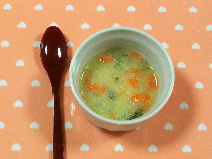 離乳食中期の高野豆腐おすすめレシピ「高野豆腐のトロトロスープ」の完成品