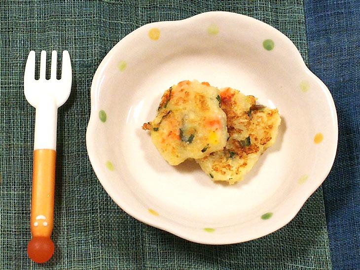 離乳食完了期の高野豆腐おすすめレシピ「高野豆腐のポテトパンケーキ」の完成品