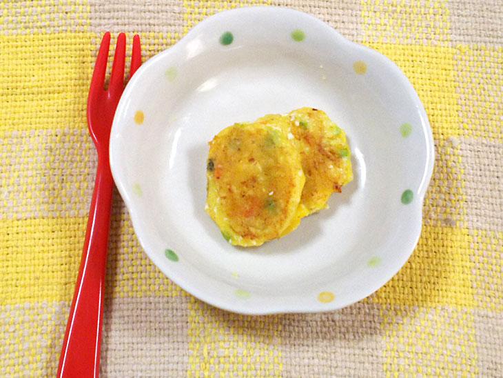 離乳食後期の豆腐おすすめレシピ「豆腐のふわふわホットケーキ」の完成品