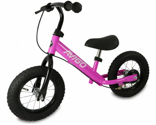 トイザらス AVIGO 12インチ エアタイヤトレーニングバイク(ピンク)