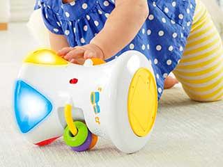 カラフルライト&サウンド!2WAY指遊びドラム