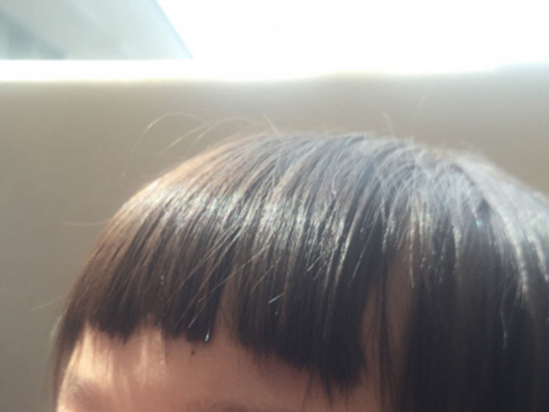 子供の前髪