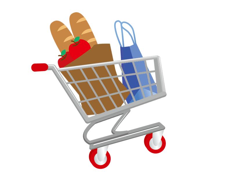 買い物のカート(イラスト)