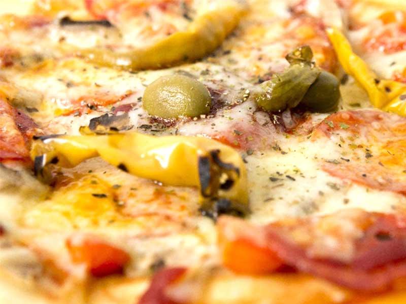 ピザのチーズ