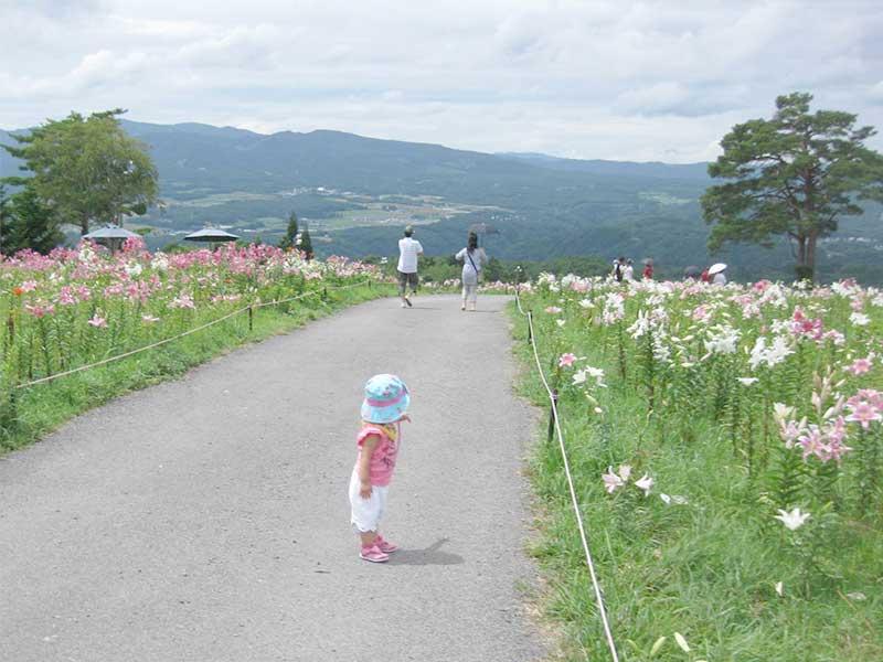 公園を歩いている赤ちゃん
