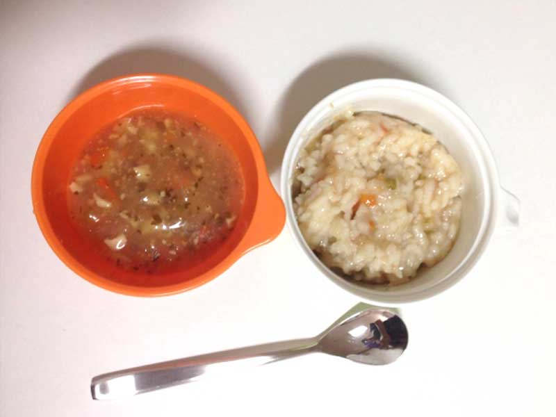 離乳食のおかゆとスープ