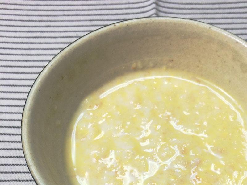 卵黄パン粥