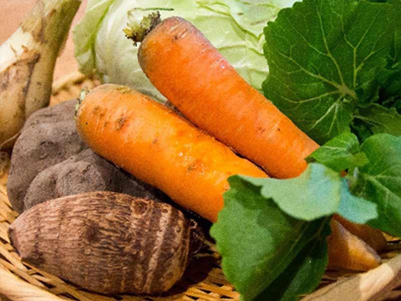 里芋と野菜