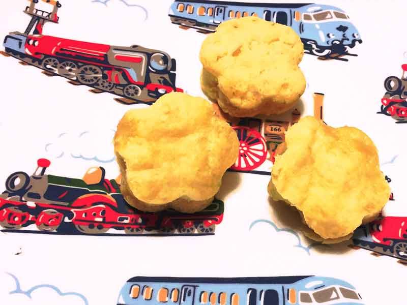 離乳食後期の豆乳おすすめレシピ「豆乳バナナ蒸しパン」の完成品